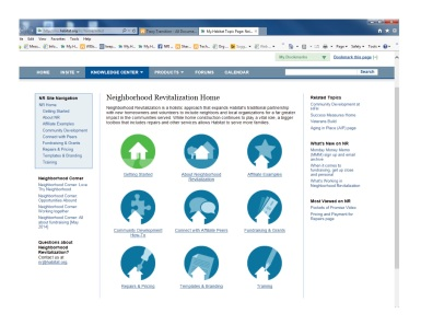This is the redesign of Habitat for Humanity International's intranet.