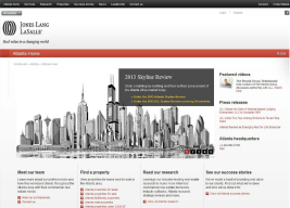 I worked with the designer to develop a new regional JLL website to highlight regional research reports.