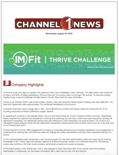 This newsletter launched the 1 million-step employee challenge.